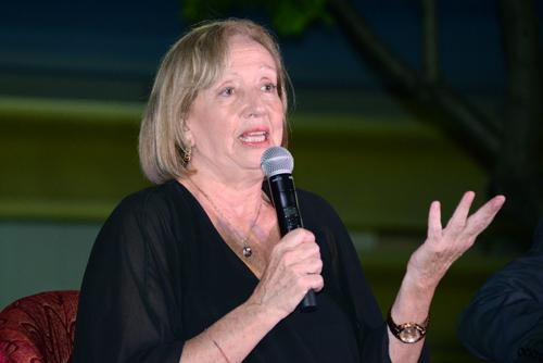 Ministra María Julia Muñóz haciendo uso de la palabra