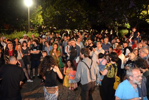 Público celebrando