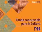Logo de las Bases 2018 de Fondo Concursable para la Cultura.